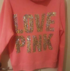 PINK zip up hoodie NWOT
